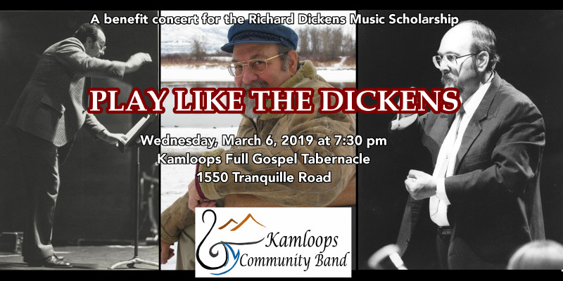 "the kamloops community band presents ""play like the dickens"" on march 6, 2019"