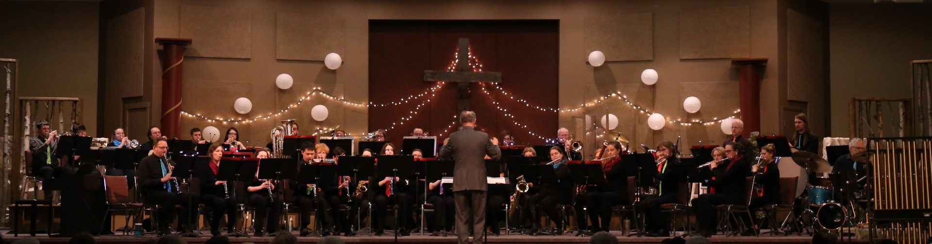 the kamloops community band in performance