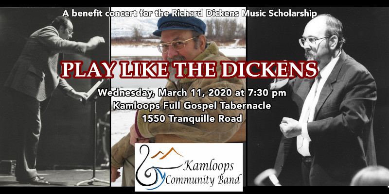 "the kamloops community band presents ""play like the dickens"" on march 11, 2020"