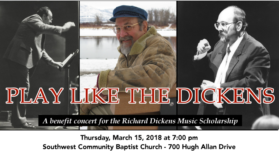 """the kamloops community band presents """"play like the dickens"""" on march 15, 2018"""